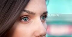 Imaginary beautiful blue eyes.
